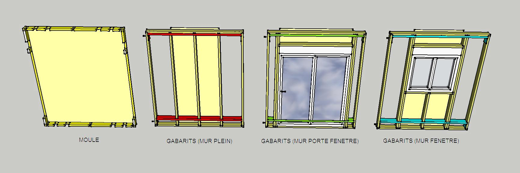 maison ossature bois modulable. Black Bedroom Furniture Sets. Home Design Ideas