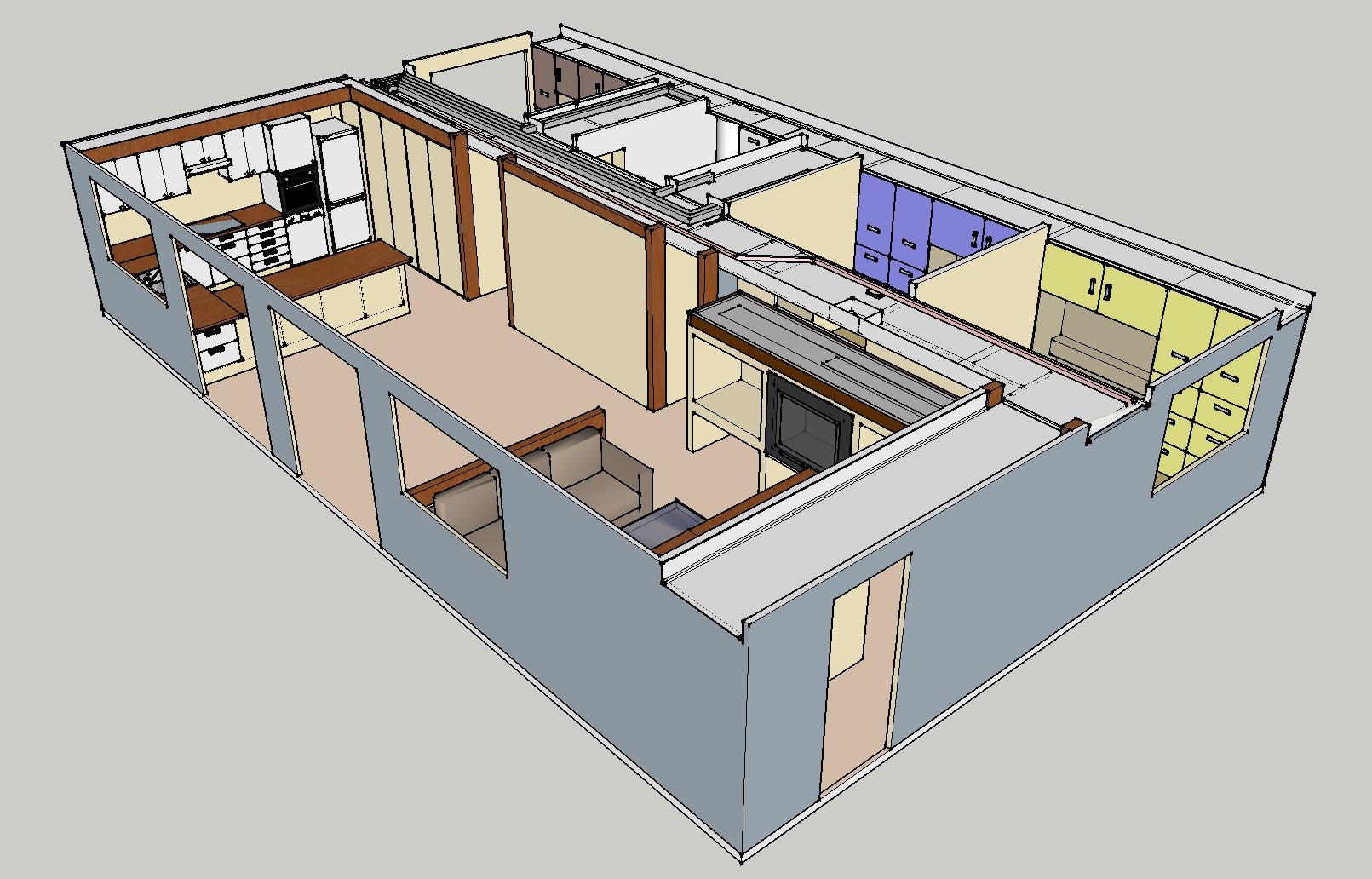 L agencement int rieur maison ossature bois modulable for Agencement interieur